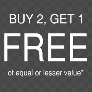 SALE BUY 2 GET 1 FREE 🌸EQUAL OR LESSER VALUE🌸